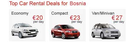 Top Car Rental Deals for Bosnia